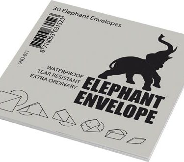 streetsupply Elephant Envelope 30x (9,5x9,5cm with lines)